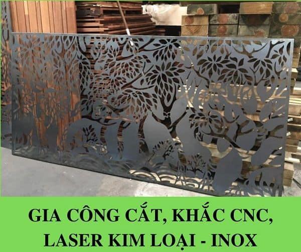 Gia công Cắt, Khắc CNC, Laser Kim Loại – INOX