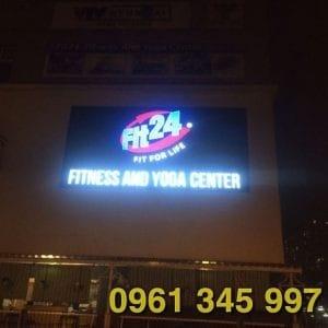 Thi công biển hiệu trung tâm Fitness&yoga Phú Mỹ Hưng