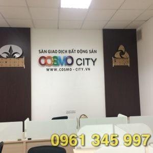 Biển hiệu sàn giao dịch bất động sản Cosmo City