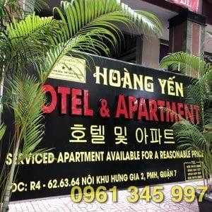 Thi công biển hiệu Khách sạn Hoàng Yến Phú Mỹ Hưng
