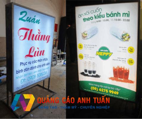 Làm biển quảng cáo hộp đèn | Thiết kế hộp đèn mẫu mới nhất 2019