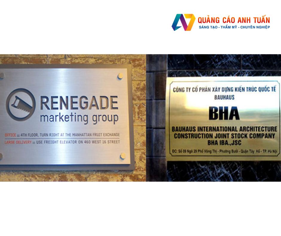 Tổng hợp các thiết kế bảng hiệu công ty đẹp mắt và thu hút