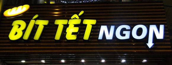 Các loại bảng hiệu quảng cáo được yêu thích tại Anh Tuấn